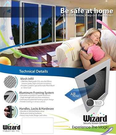 Wizard security screens brochure cover
