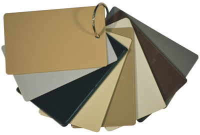 colour swatches for retractable screens